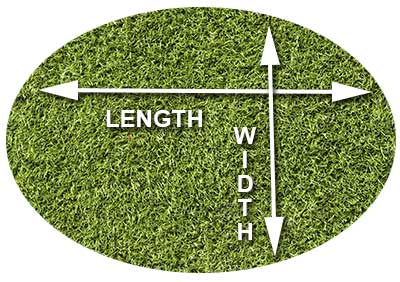 How to measure oval grass