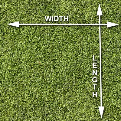 How to measure square grass