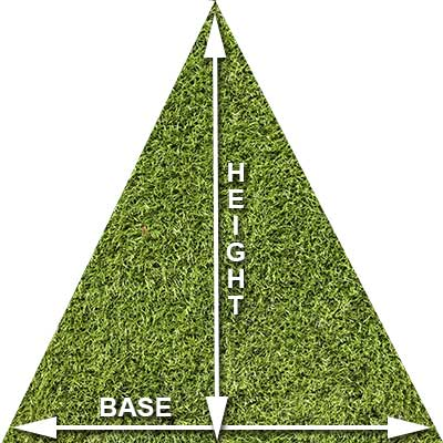 How to measure triangle grass
