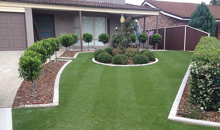 Synthetic Grass Residential House